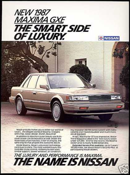 Nissan Maxima GXE Luxury Car Photo (1987)