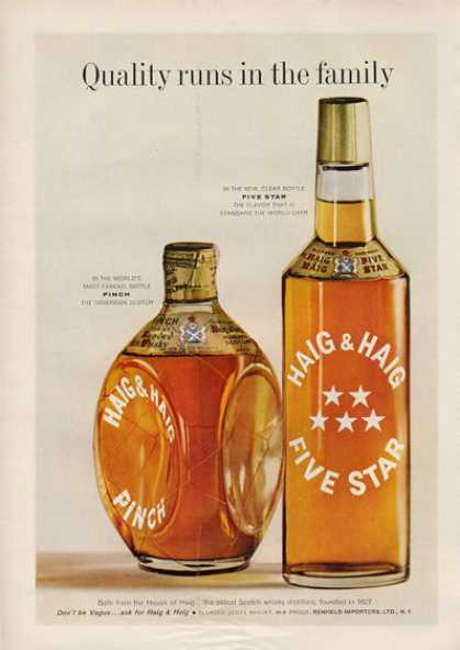 Haig & Haig Whisky Bottle (1959)