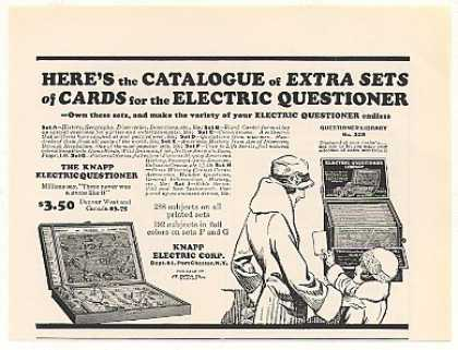 Knapp Electric Questioner Game (1928)