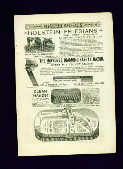 Improved Diamond Safety Razor Ad C 1/4 Page (1890)