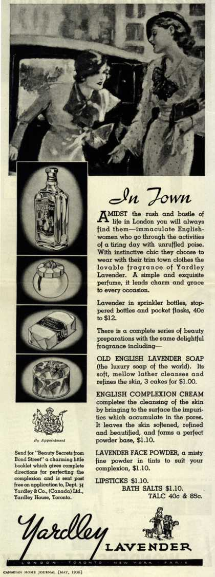 Yardley & Co., Ltd.'s Lavender Cosmetics – In Town (1936)