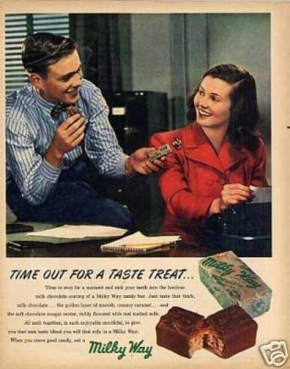 Mars Milky Way Candy Bar (1947)