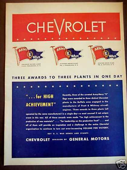 Chevrolet Pratt & Whitney Aircraft Engines Wwii (1943)