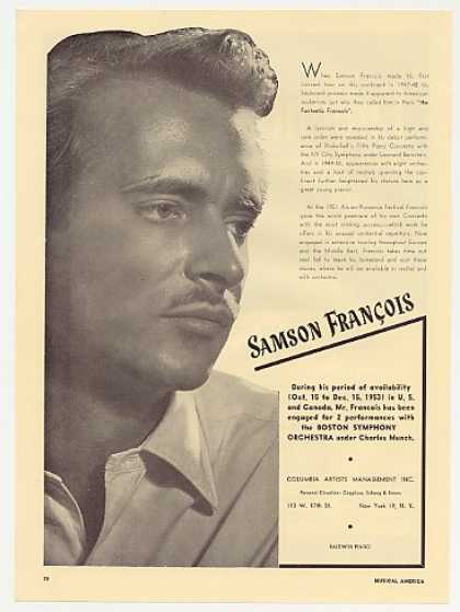 Samson Francois Photo Booking Promo (1953)