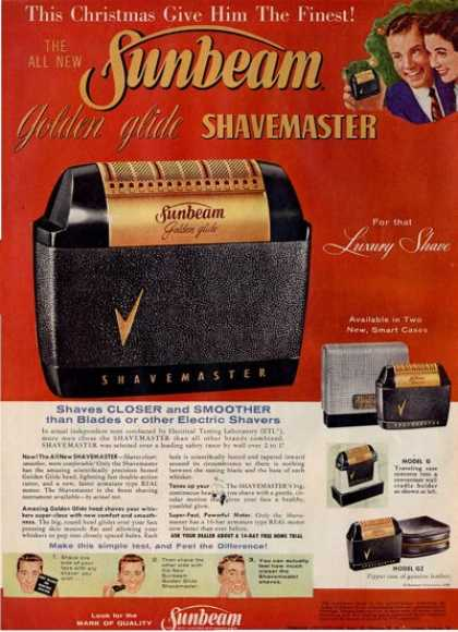 '56 Sunbeam Golden Glide Model G Gz Shaver Ad T (1956)