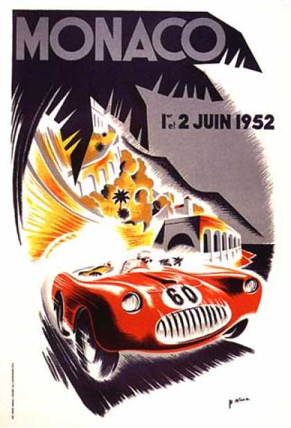 Monaco Grand Prix by B. Minne (1952)