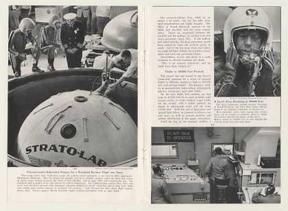 Navy Strato-Lab Balloon Flight 14-Pg Photo Article (1957)