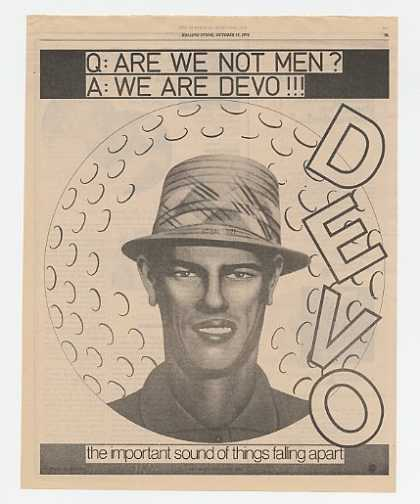 Devo Are We Not Men Album Promo (1978)