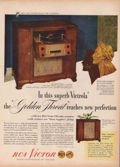 Victrola Rca Radio Golden Throat (1946)