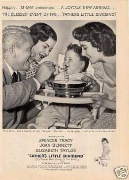 "Movie Ad ""Father's Little Dividend"" Spencer Tracy (1951)"