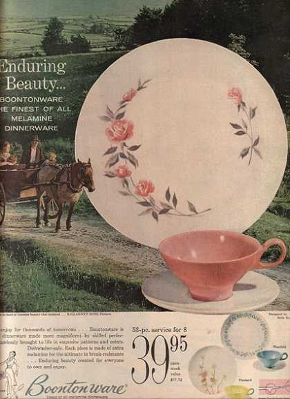 Boontonware's Killarney Rose pattern (1959)