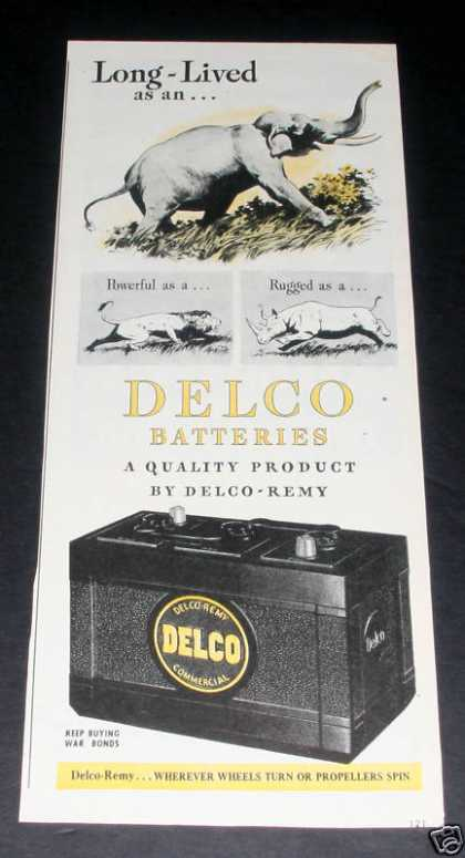 Delco-remy Batteries, Elephant (1945)