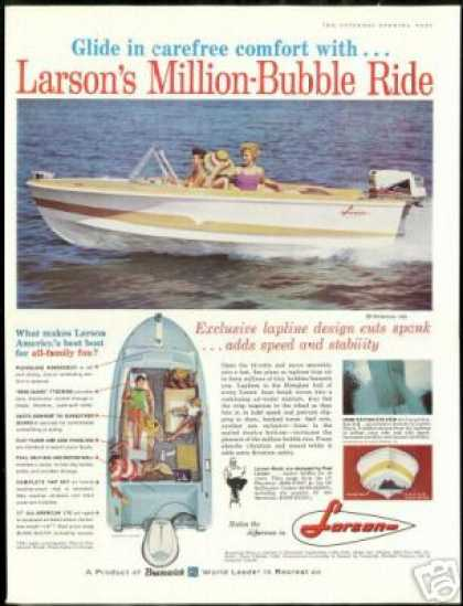 Larson All American 155 176 Photo Vintage Boat (1961)