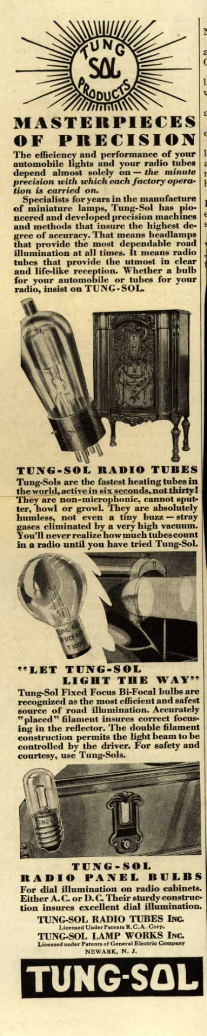 Tung Sol Product's Radio Tubes – Masterpieces of Precision (1931)