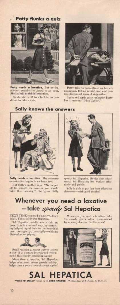 Sal Hepatica Speedy Laxative (1941)