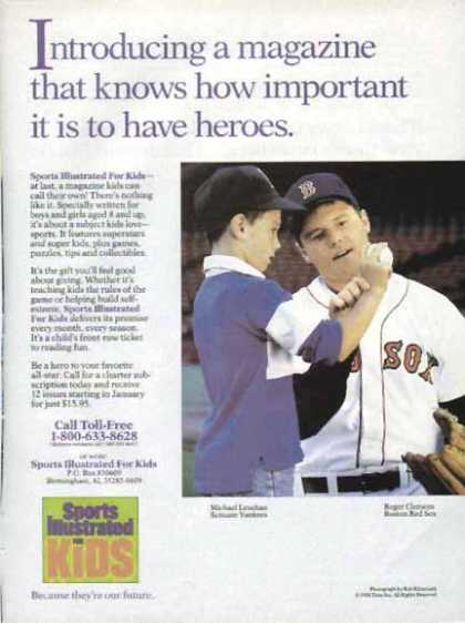 Sports Illustrated For Kids – Roger Clemens (1988)