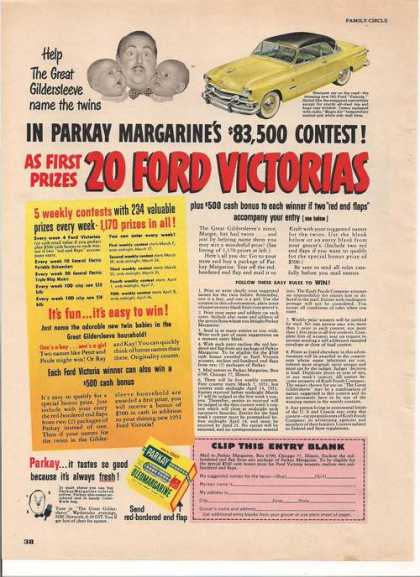 Parkay Margarins Contest Ford (1951)