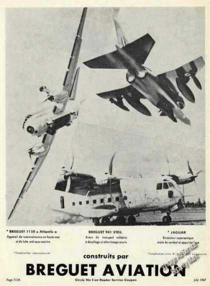 Aviation Ad Breguet 941 Stol/jaguar (1967)