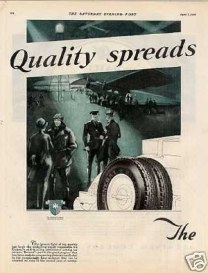 General Tire Color Ad 2 Page (1928)