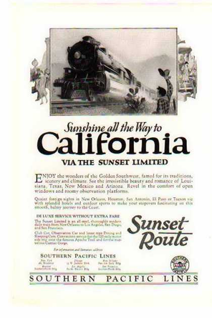 Southern Pacific Railroad – VIA The Sunset Limited (1925)
