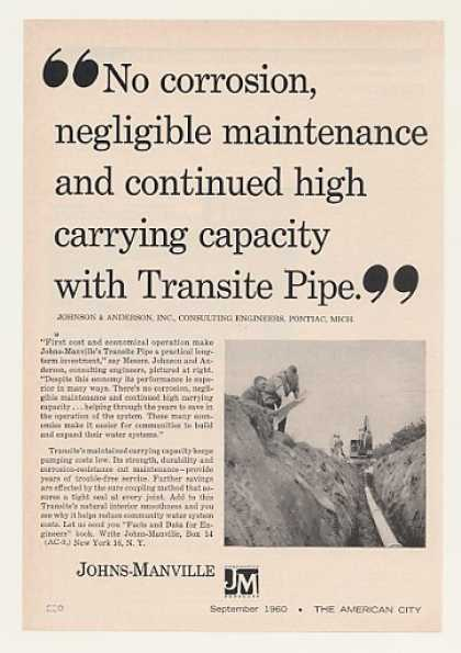 Johns-Manville Transite Water System Pipe (1960)
