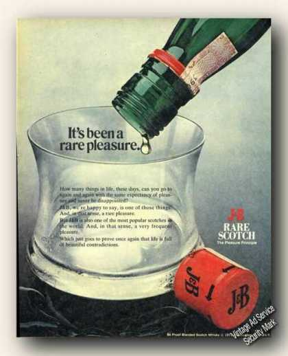 It's Been a Rare Pleasure J&b Scotch (1973)