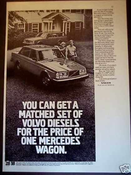 Volvo Gl Diesel Car Compared To Mercedes Photo (1980)