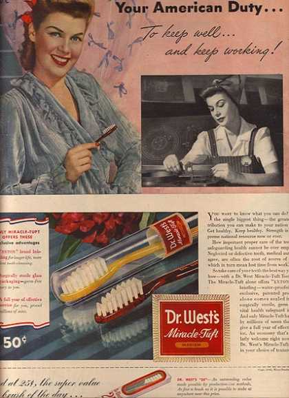 Dr. West's Toothbrushes (1943)