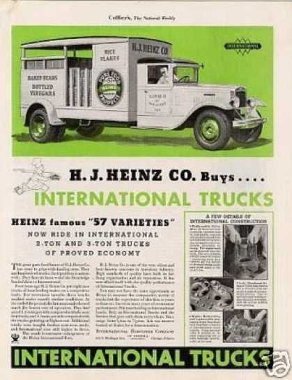 International Truck Color Ad H.j. Heinz Co. (1934)