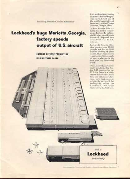 Lockheed Marietta Georgia Defense Factory (1953)