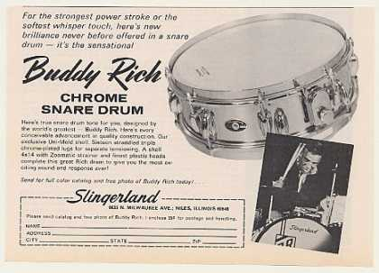 Buddy Rich Slingerland Chrome Snare Drum Photo (1971)