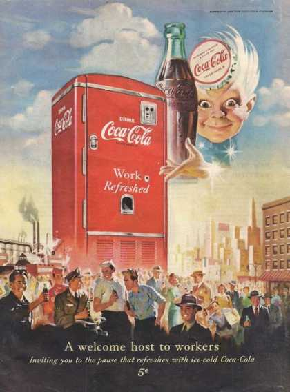 Welcome Host To Workers Coca Cola Soda (1950)