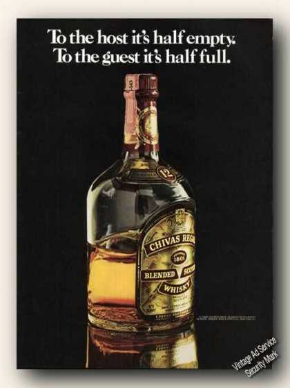 Chivas Regal To Host Half Empty/guest Half Full (1975)