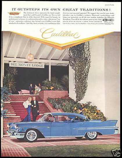 Blue Cadillac Car 4 Dr Del Monte Lodge Photo (1958)