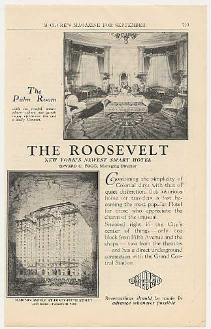 The Roosevelt Hotel New York Palm Room (1925)