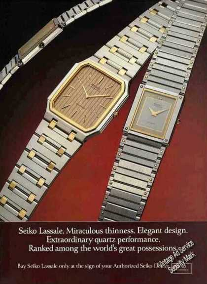 "Seiko Lassale Watches ""Miraculous Thinness"" (1982)"