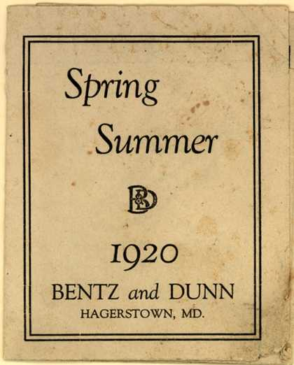 Bentz and Dunn – Spring Summer 1920 (1920)