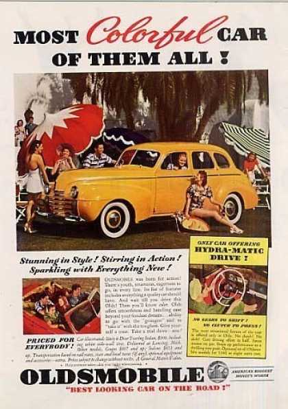 "Oldsmobile Car Ad ""Most Colorful... (1940)"