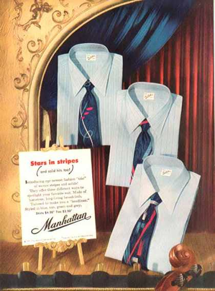 Manhattan Shirt Company – Stars in Stripes Shirts – Sold (1951)