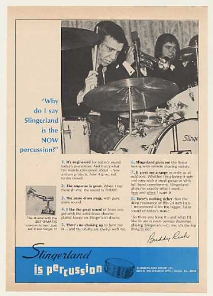 Buddy Rich Slingerland Drums Photo (1970)