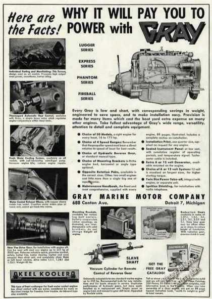 Gray Marine Engine Photos Boating (1951)