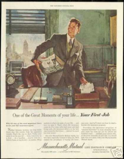 First Job Art Print Massachusetts Insurance (1951)
