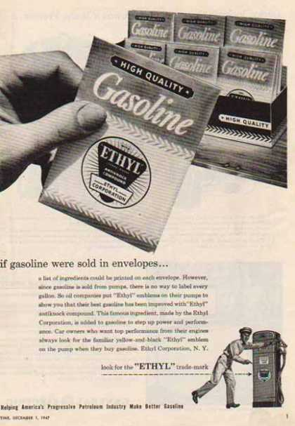Ethyl Gasoline – Sold in Envelopes (1947)