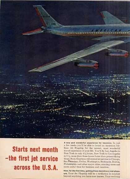 American Airlines Ad 2 Page (1958)