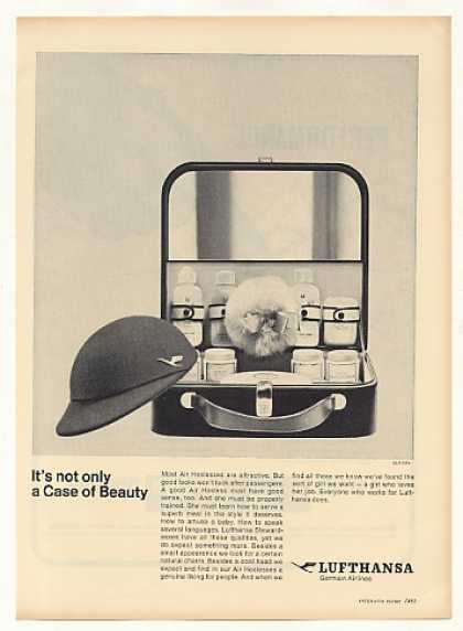 Lufthansa Airlines Hostess Not Only Beauty Case (1963)