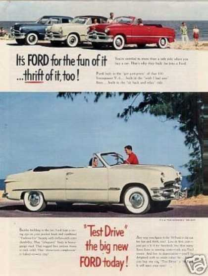 Ford Convertible Car (1950)