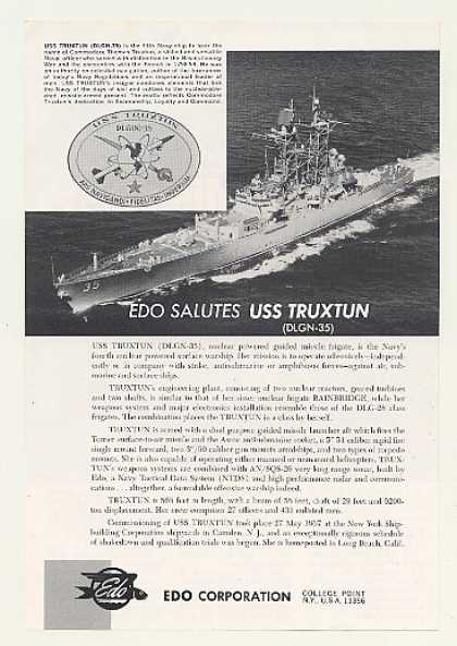 USS Truxtun Nuclear Frigate Ship EDO Corp Photo (1968)