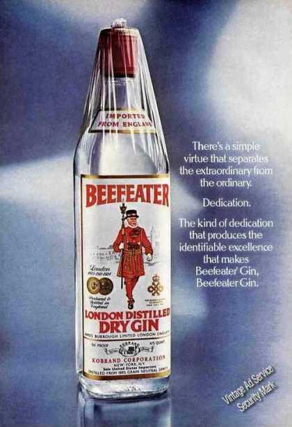 "Beefeater ""Dedication Separates Extraordinary"" (1976)"