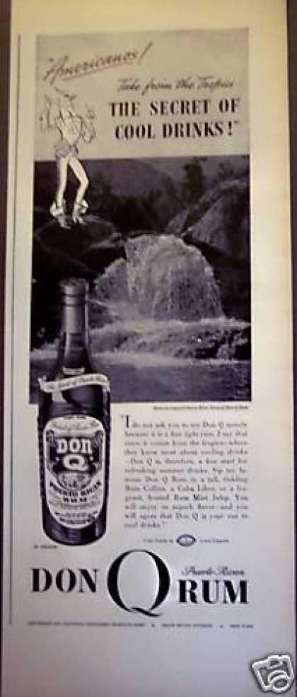 Don Q Puerto Rican Rum Tropical Scene (1938)