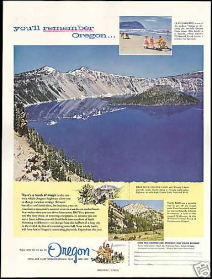 Oregon Travel Crater Lake Wizard Island (1955)